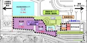 □ターミナル西側計画図 富士山静岡空港