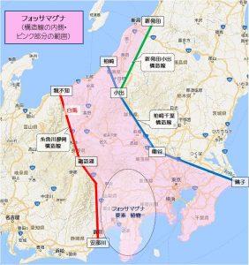 ★フォッサマグマと構造線と要素地図
