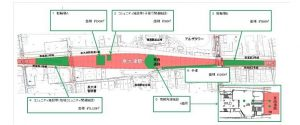 計画配置図 南海泉大津駅高架下店舗