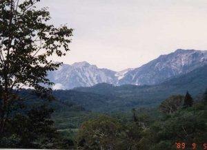 19890905長野県・白馬・栂池自然園からの白馬三山