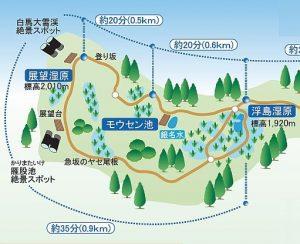 栂池自然園マップ-2-3自然園左側