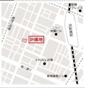 新橋三丁目計画 地図